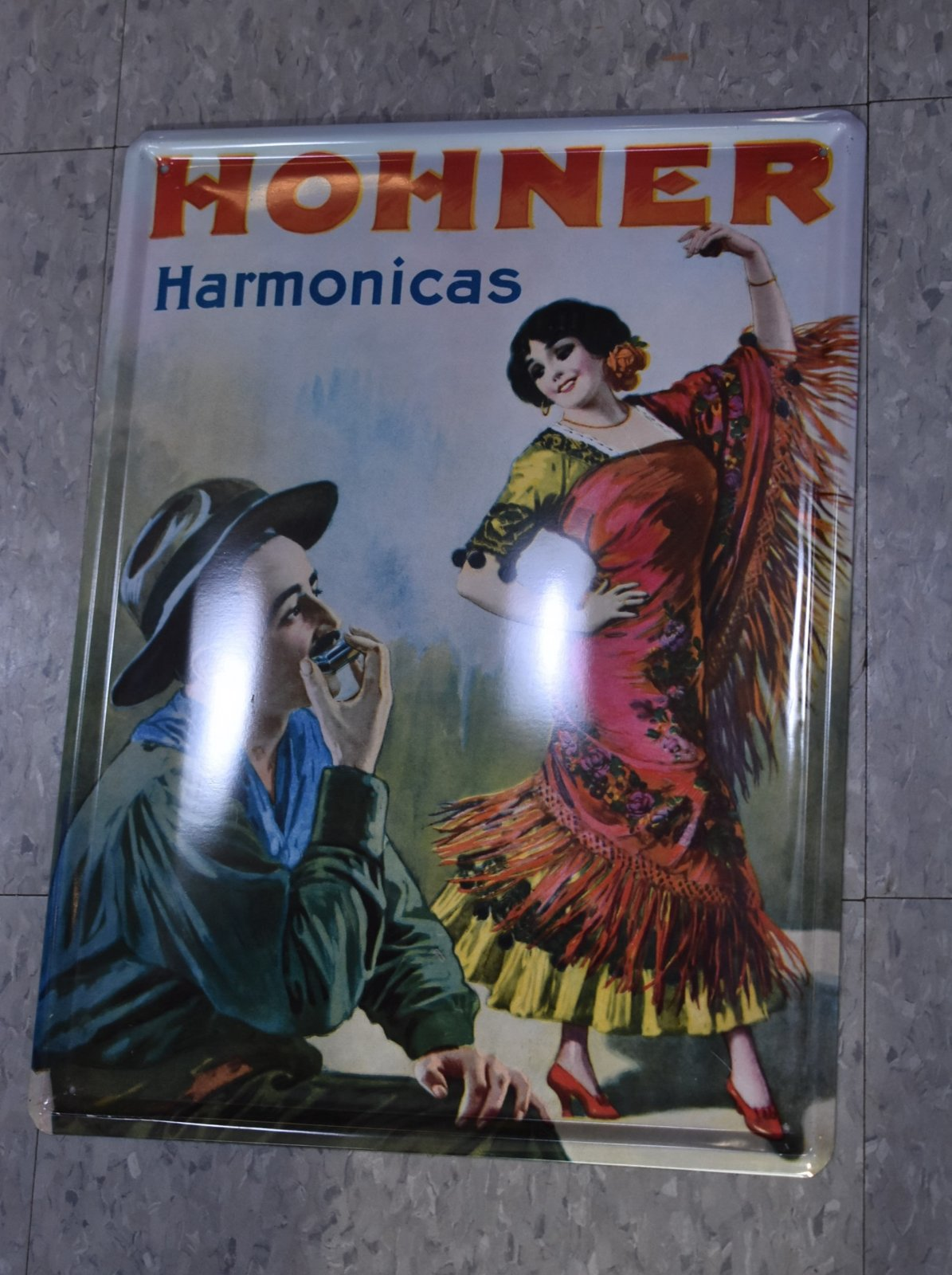 Hohner Harmonicas Metal Sign