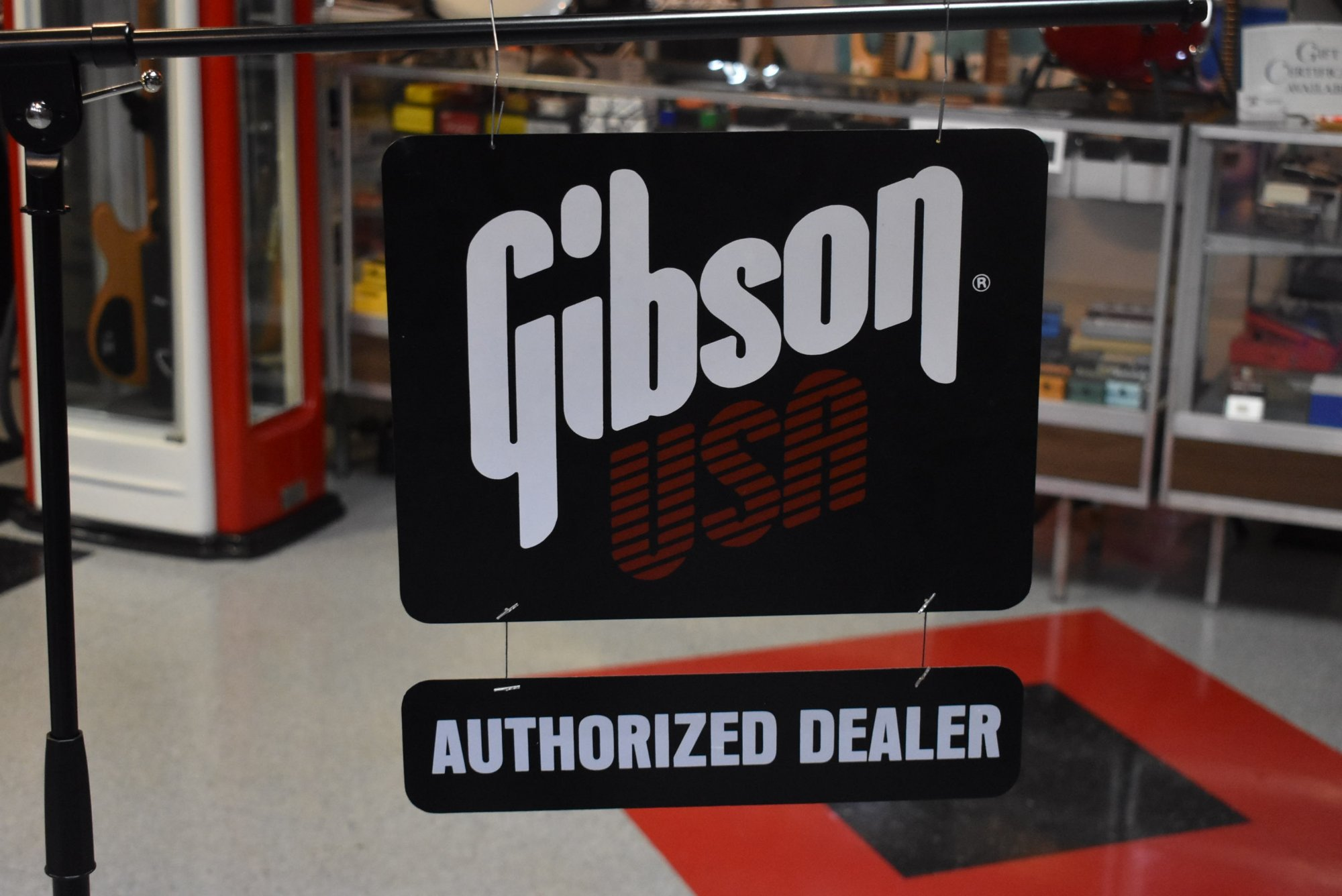 1980s Gibson Authorized Dealer Sign