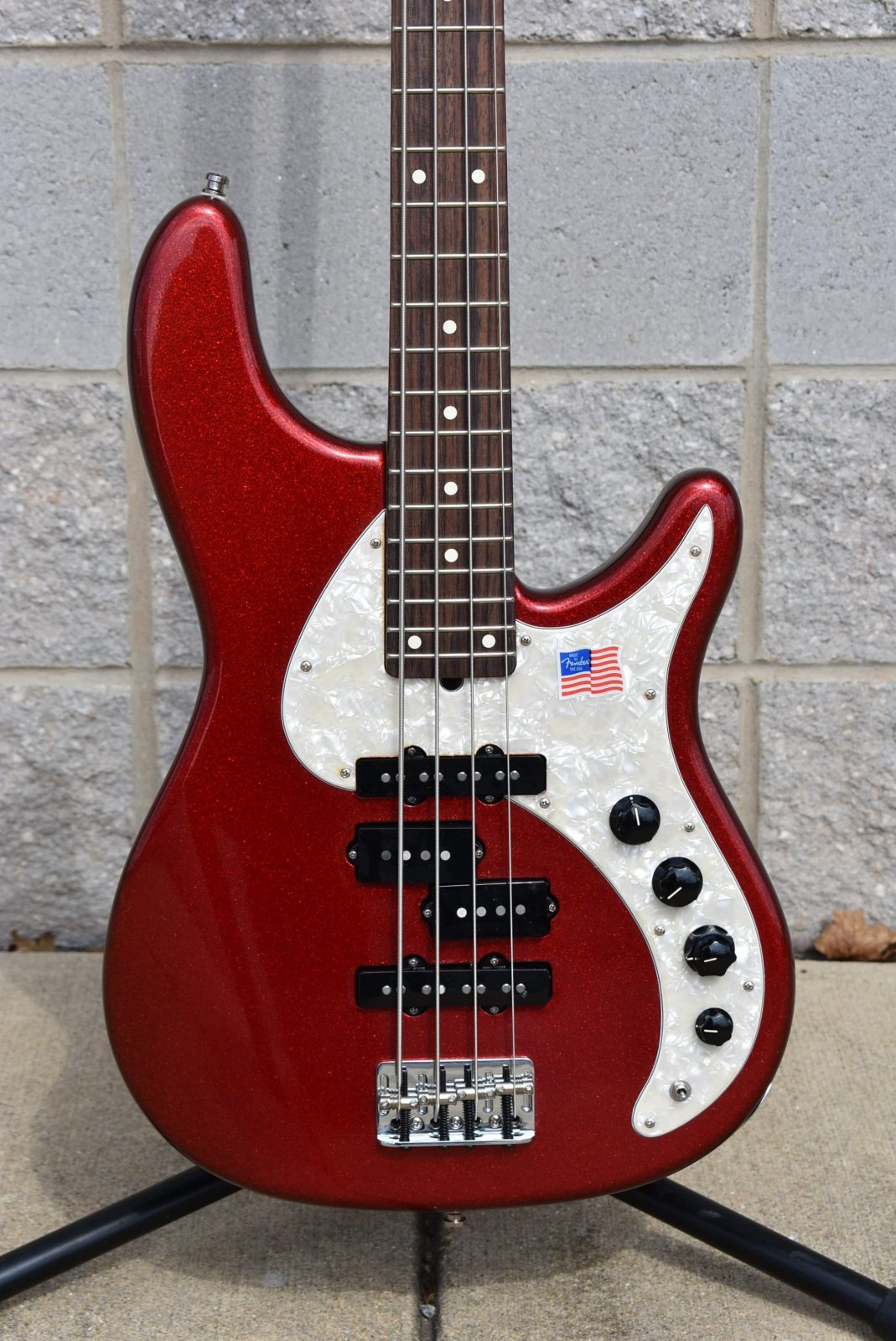2009 Fender Stu Hamm Urge Bass II - Red Sparkle Metallic