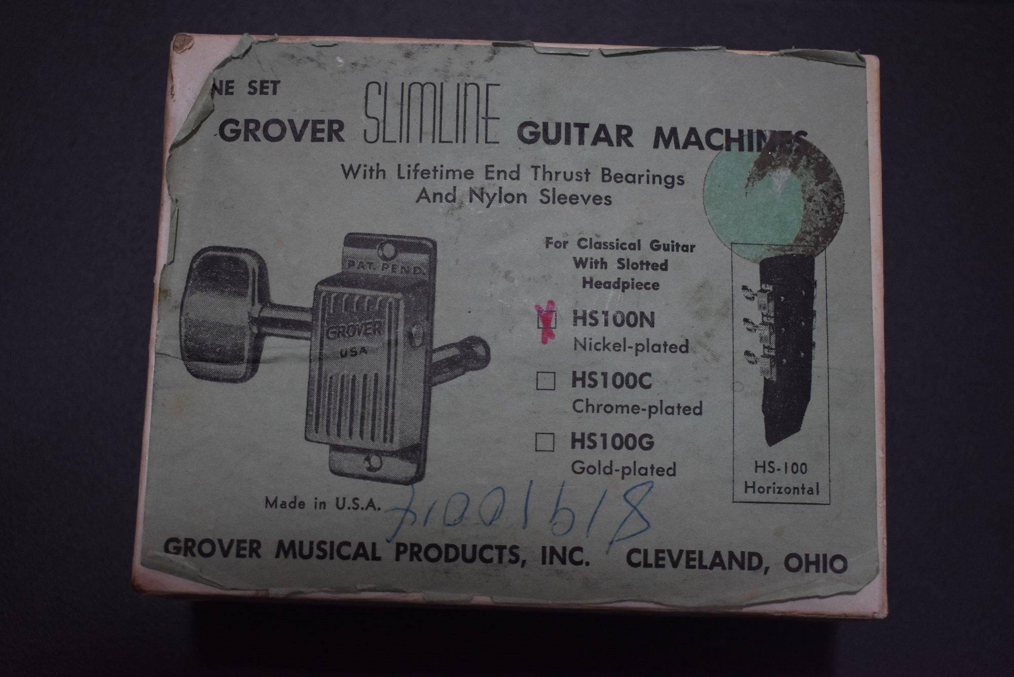 Grover HS100N Slimline Guitar Machines (Vintage)