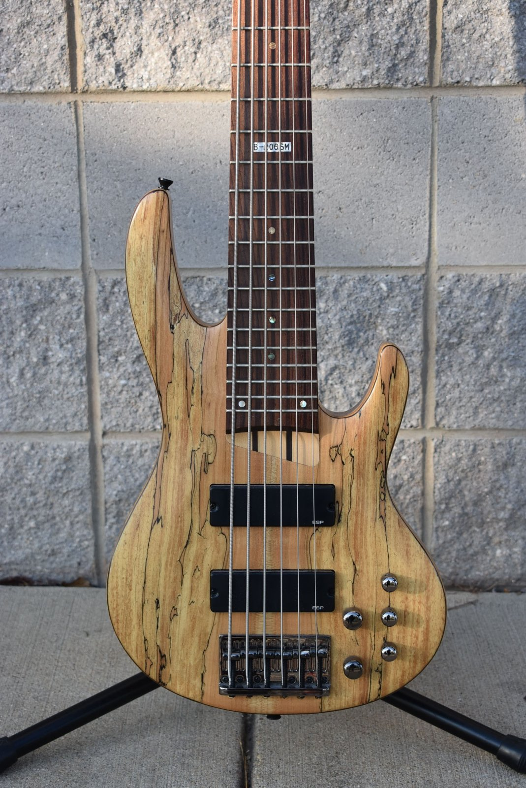 Used ESP LTD B-206SM Spalted Maple 6 String Bass