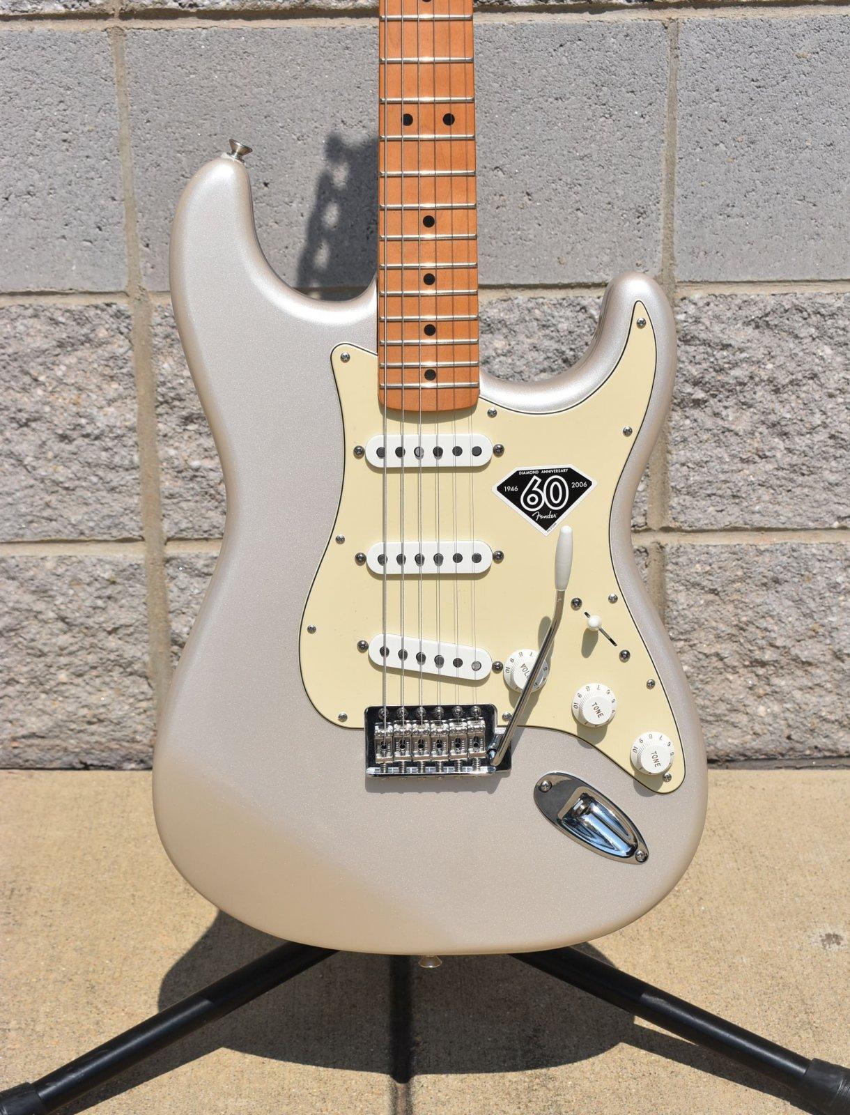 2006 Fender 60th Anniversary Standard Stratocaster - Blizzard Pearl