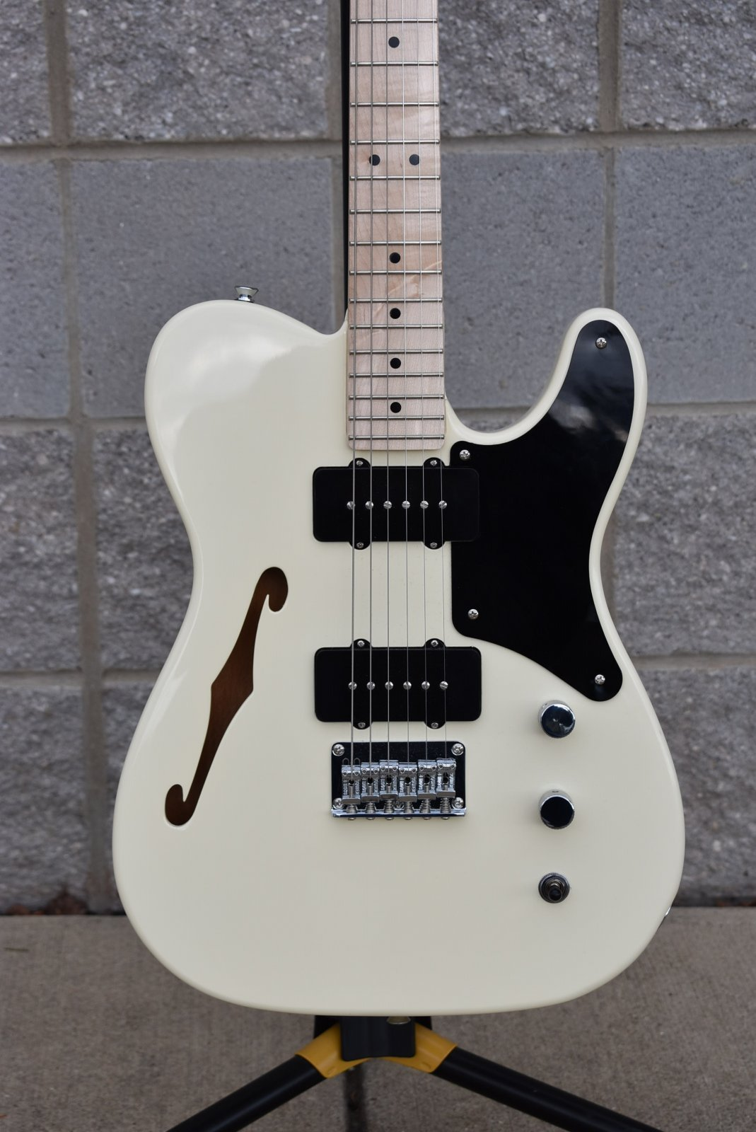 2020 Squier Paranormal Cabronita Thinline Telecaster   Olympic White