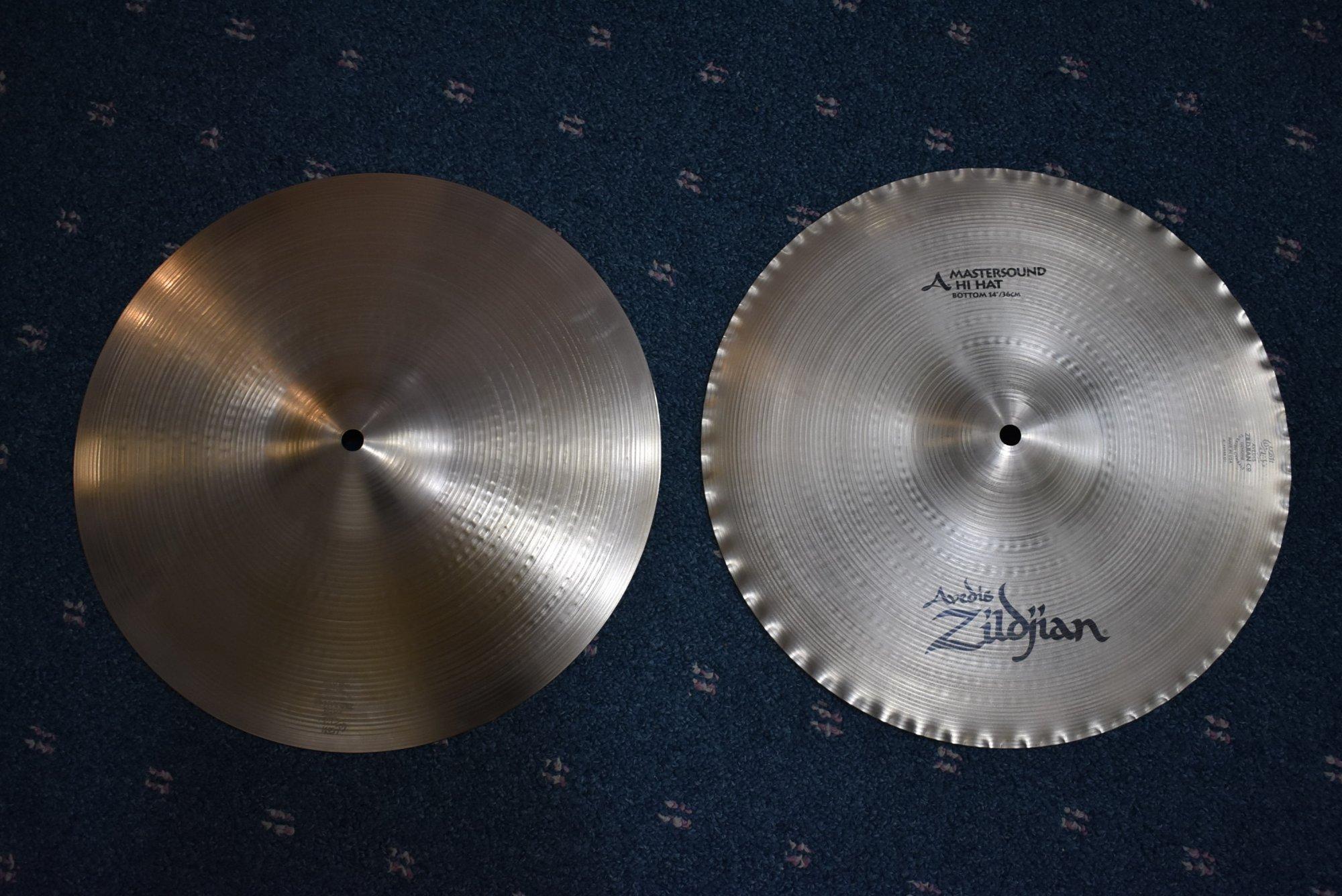 Used Zildjian Z314 Mastersound Hi-Hats