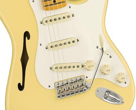 Fender Eric Johnson Thinline Stratocaster - Vintage White w/ Maple Fingerboard