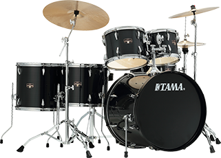 Tama IP52NC Imperialstar Ready to Rock 5 Piece Kit Hairline Black