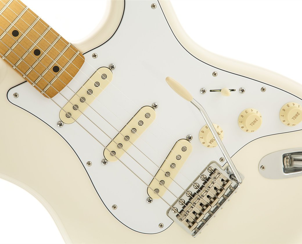 Fender Jimi Hendrix Stratocaster - Olympic White w/ Maple FIngerboard
