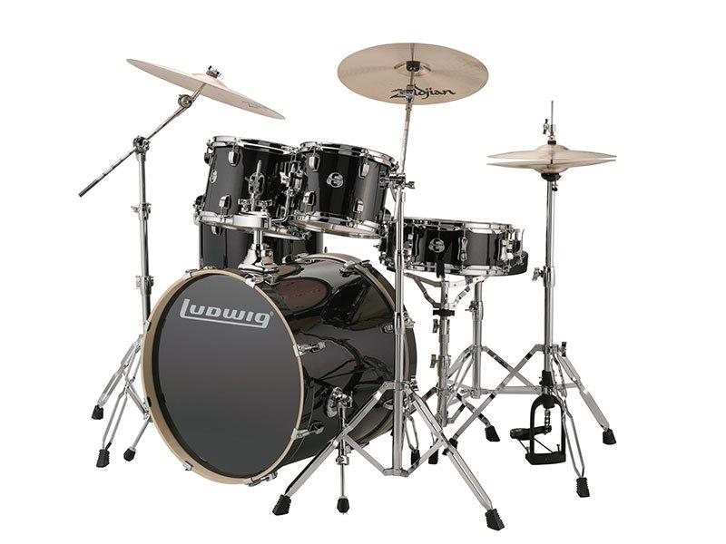 Ludwig Element Evolution Drum Kit - Black Sparkle