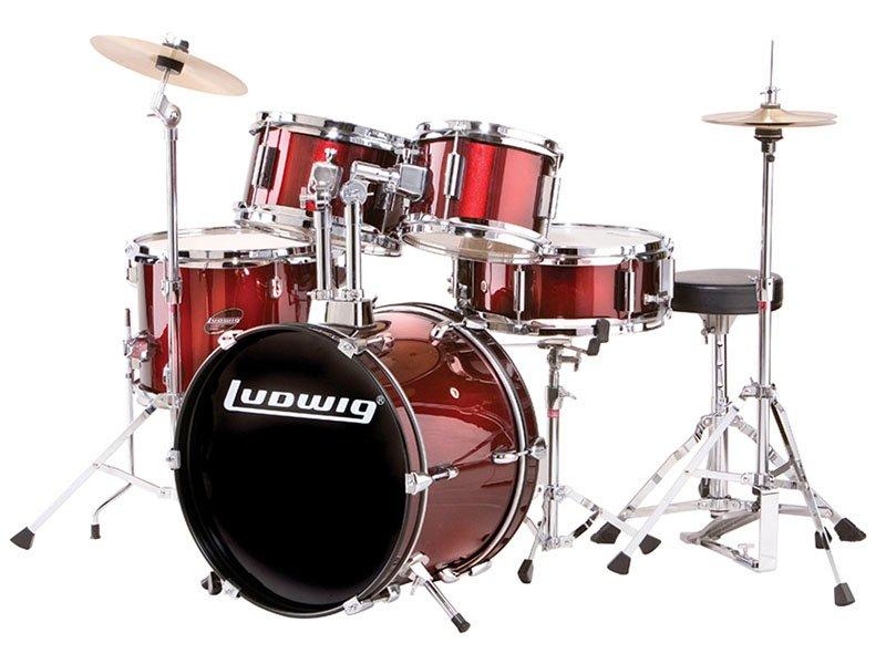 Ludwig Junior Drum Kit    Red