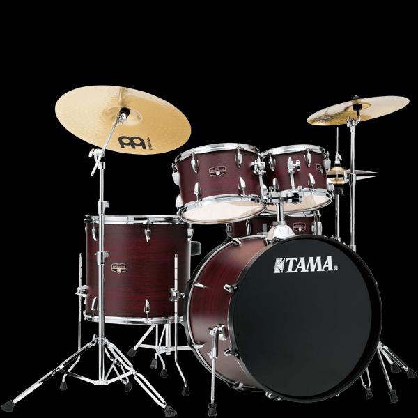 Tama IE52CBWW Imperialstar   Ready to Rock 5 Piece Kit   Burgundy Walnut Wrap