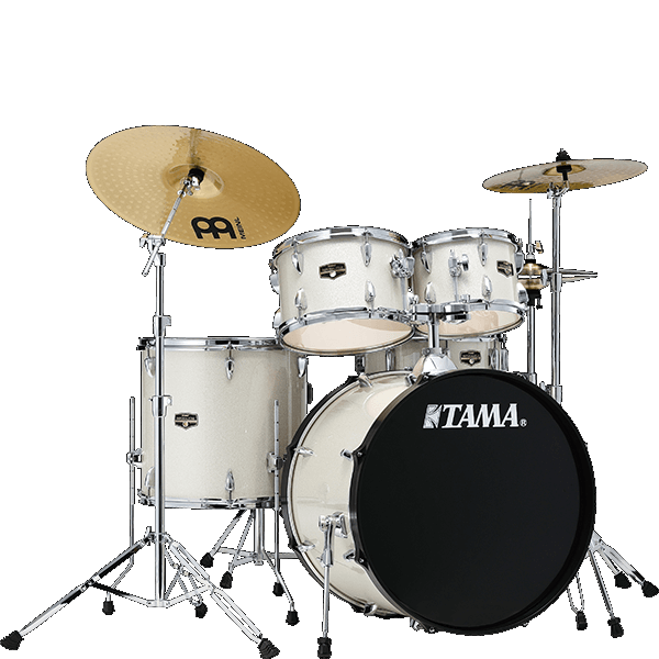 Tama IP52NC Imperialstar 5 Piece Ready to Rock Kit Vintage White Sparkle