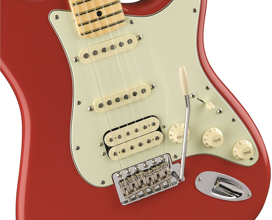 Fender American Special Stratocaster HSS - Fiesta Red w/ Maple FIngerboard