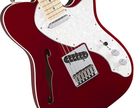 Fender Deluxe Telecaster Thinline - Candy Apple Red w/ Maple Fingerboard