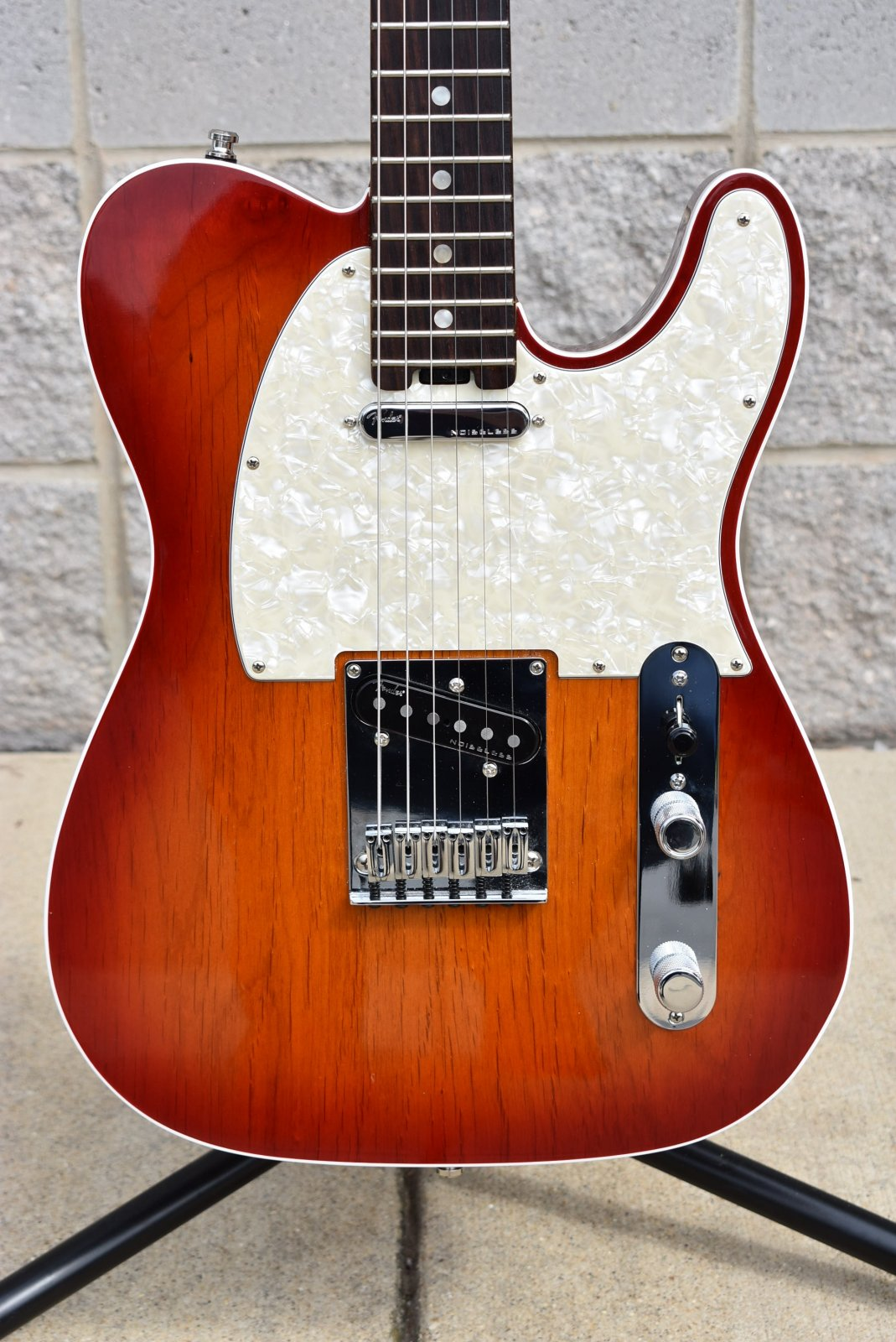 Used Fender American Elite Tele Aged Cherry Burst