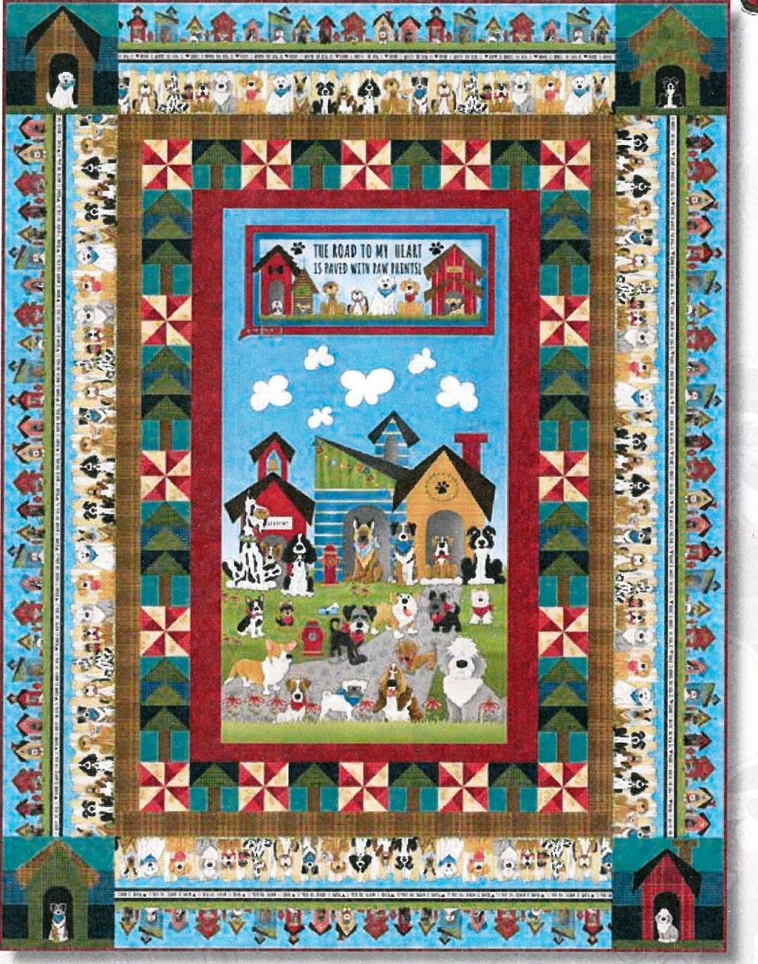 Home is where the dog is! Quilt top kit
