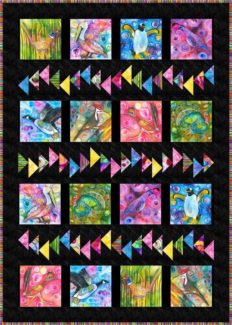 Wild Birds - by Cyndi Hershey Quilt Size 44 x 62