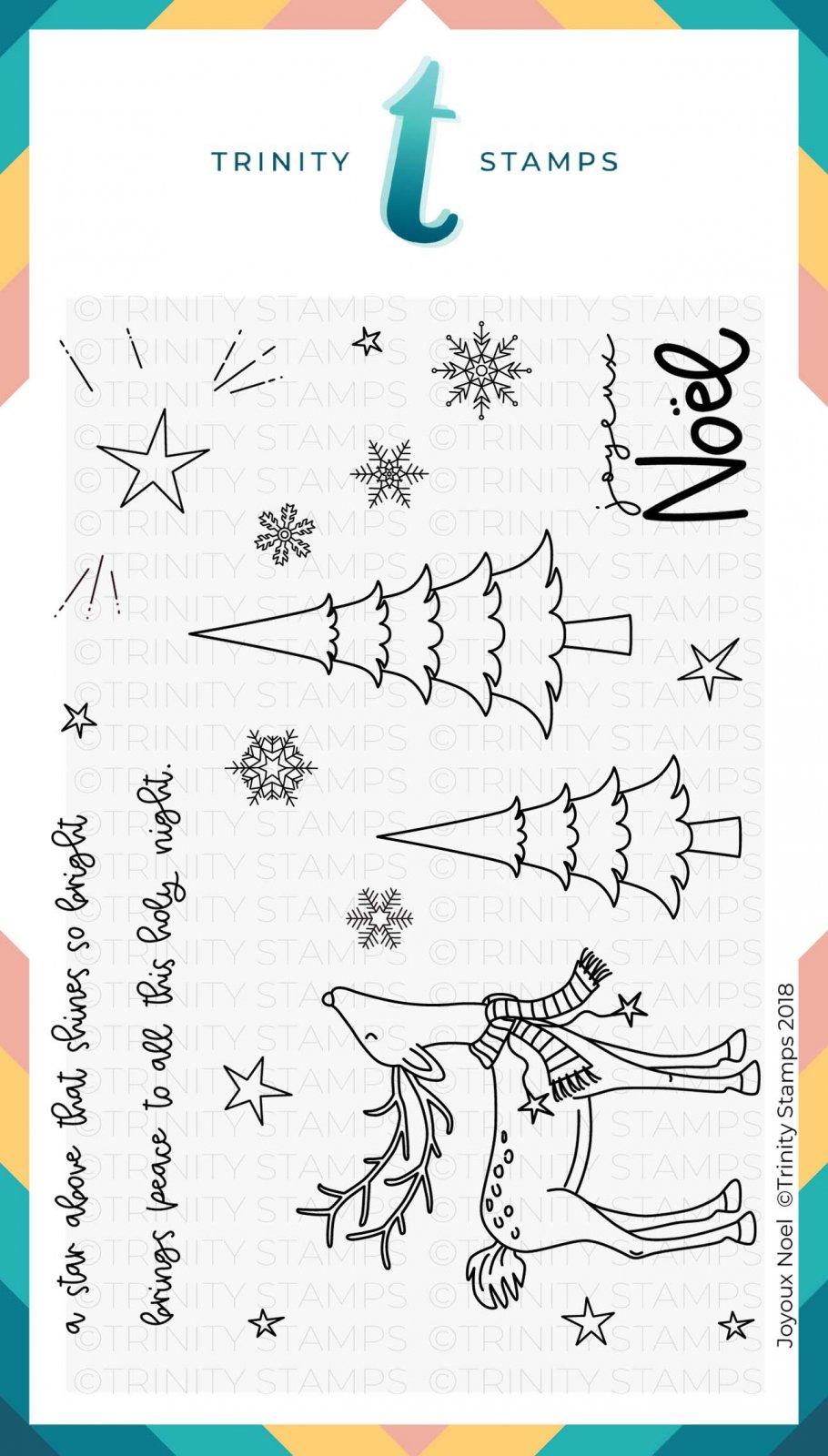 Joyeux Noel 4x6 Stamp Set