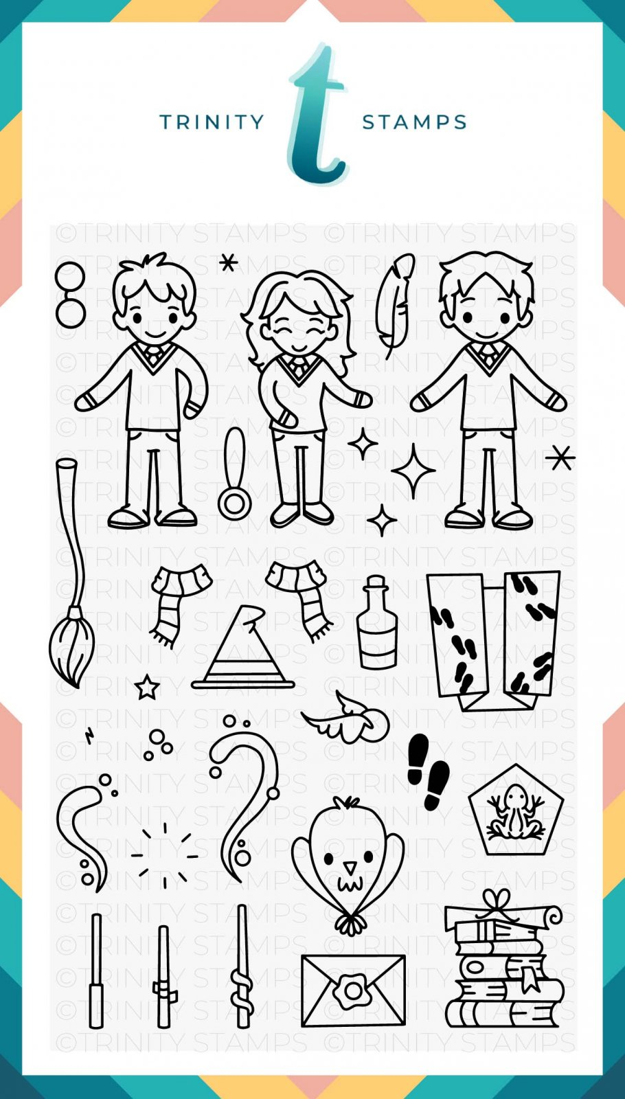 Magical Wizards 4x6 Stamp Set