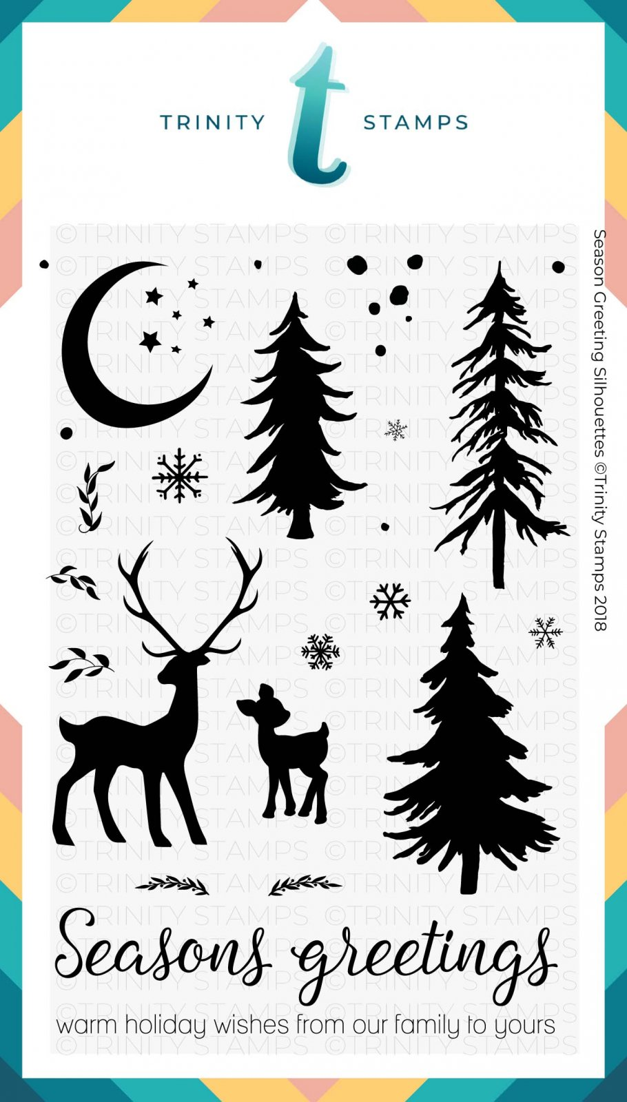 Season Greetings Silhouettes 4x6 Stamp Set