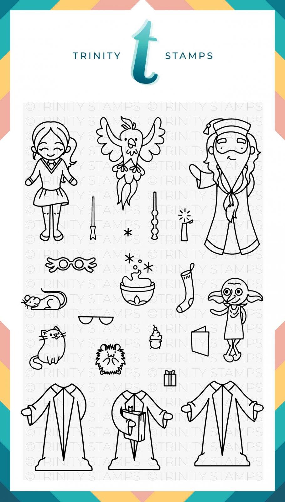 Wizard Friends 4x6 Stamp Set