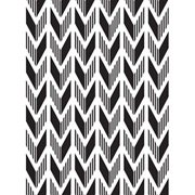 Dual Pattern Arrow Background Embossing Folder