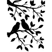 Birds on Branches Embossing Folder