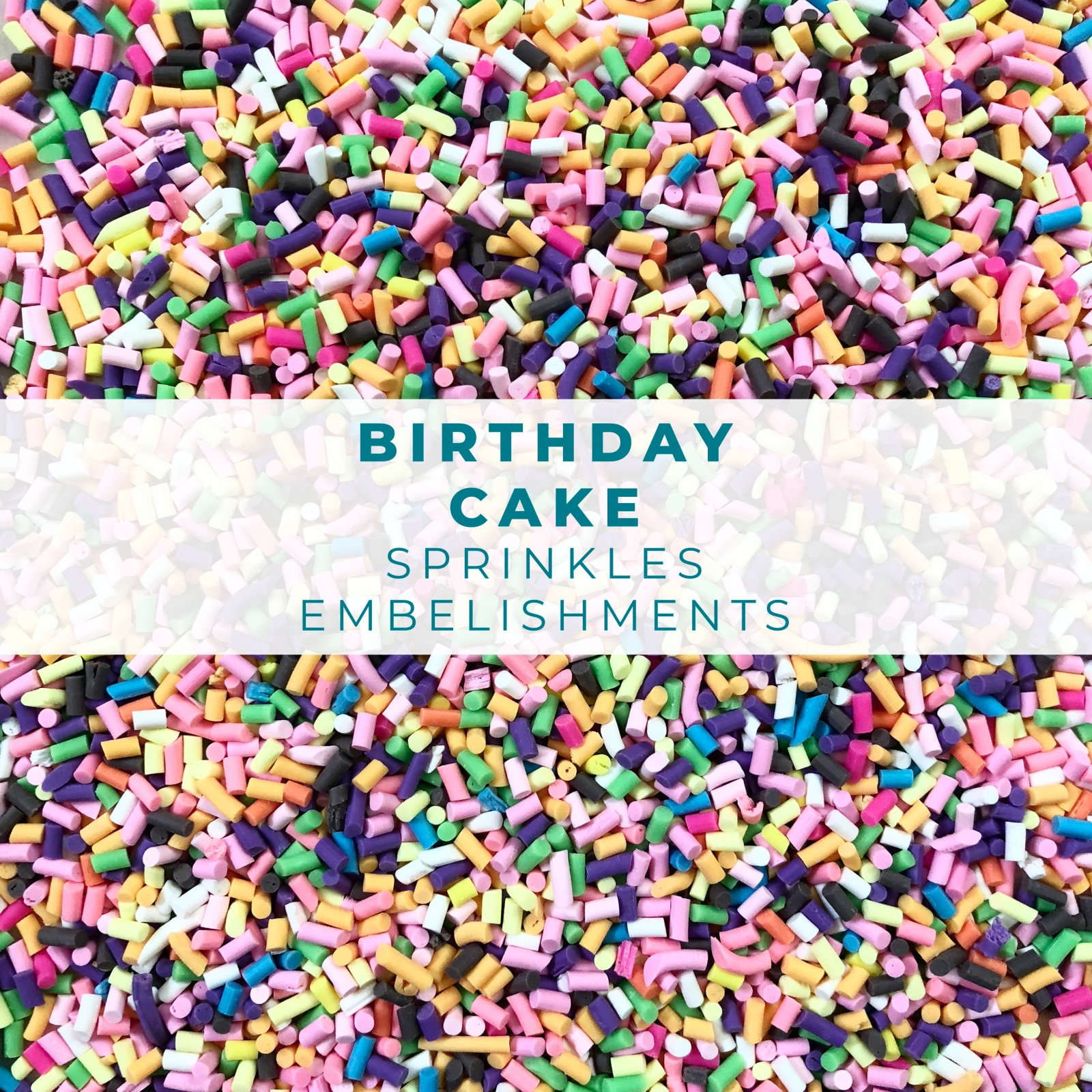 Birthday Cake Sprinkle Embellishment Mix