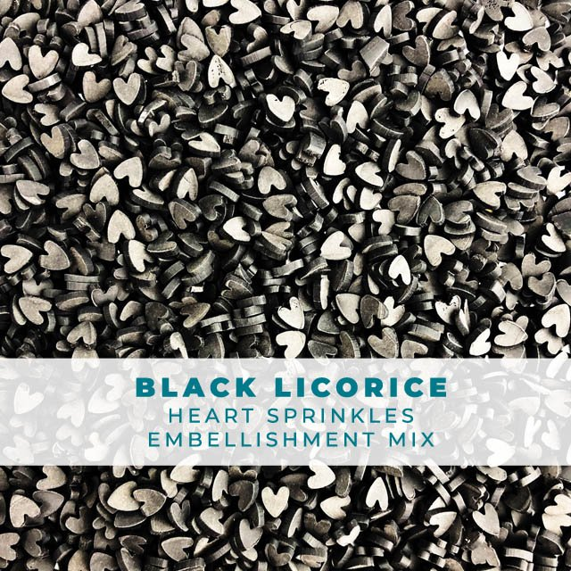 Black Licorice Heart Sprinkle Mix