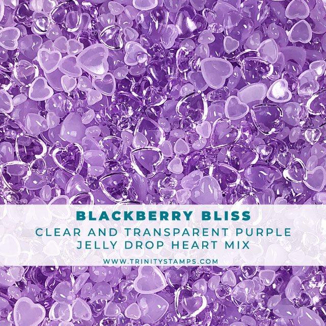 Blackberry Bliss - Jelly Drop Hearts Embellishment Mix