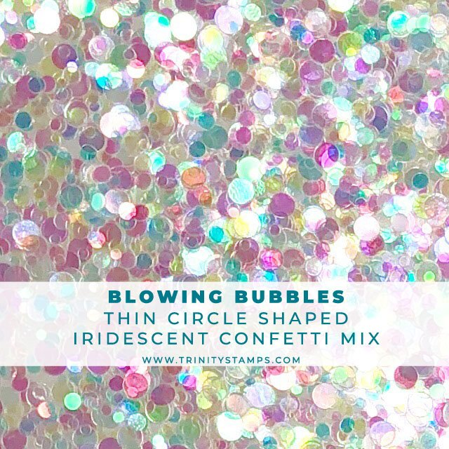 Blowing Bubbles Iridescent clear circle confetti mix