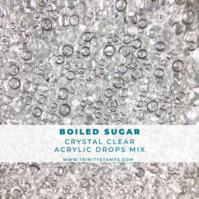 Boiled Sugar -  Clear Jelly Drops Embellishment mix