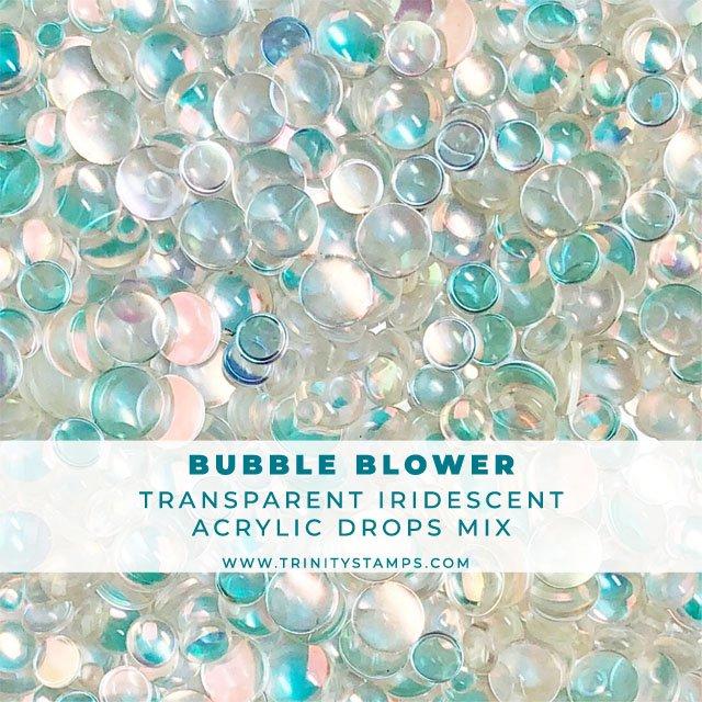 Bubble Blower: Transparent Iridescent Embellishment Mix