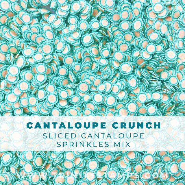 Cantaloupe Crunch: sliced Cantaloupe fruit sprinkles