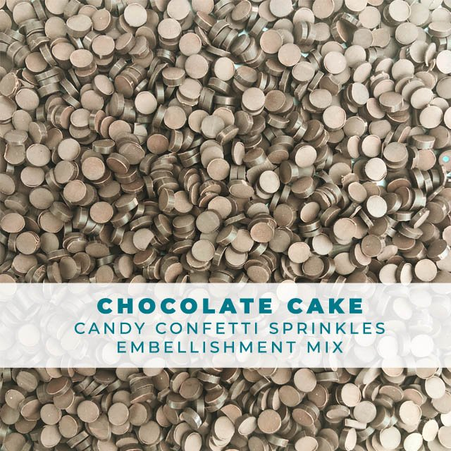 *Sprinkles* Chocolate Cake Candy Confetti Embellishments