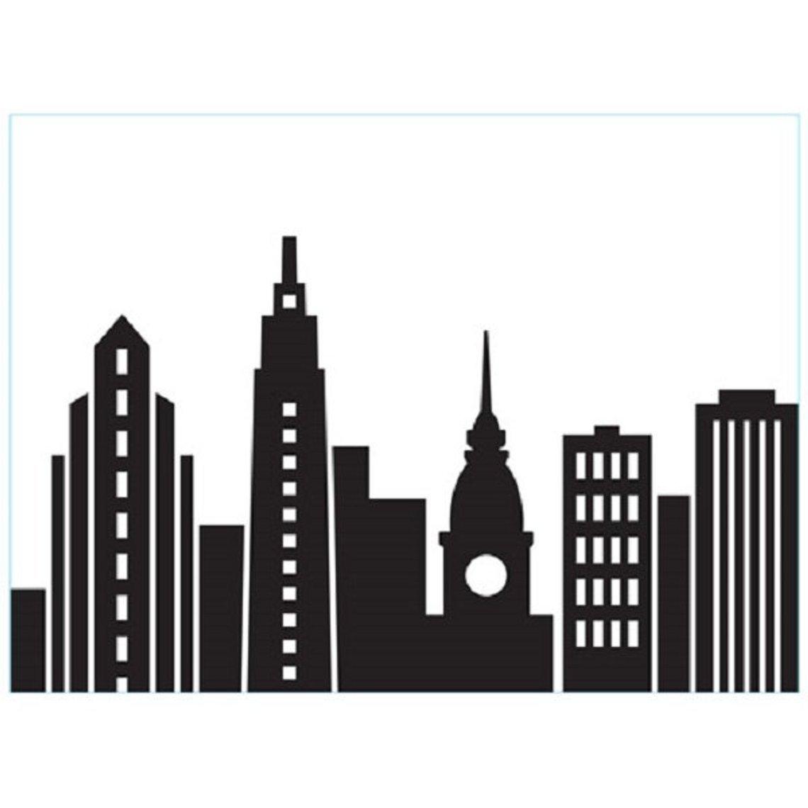 Cityscape Background Embossing Folder