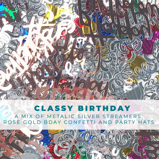 Classy Birthday: Shiny birthday confetti mix
