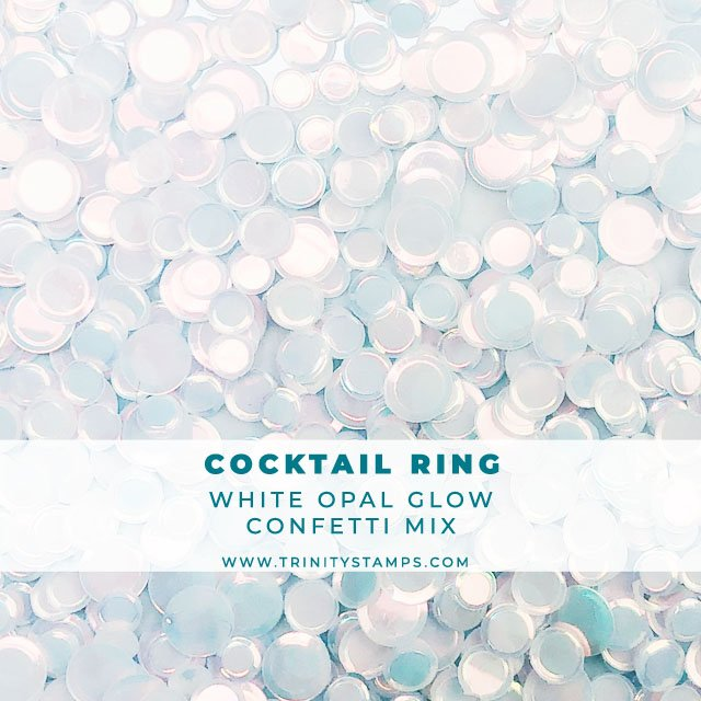 Cocktail Ring opal sheen confetti mix