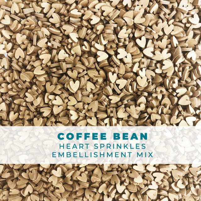 Coffee Bean Heart Sprinkle Mix