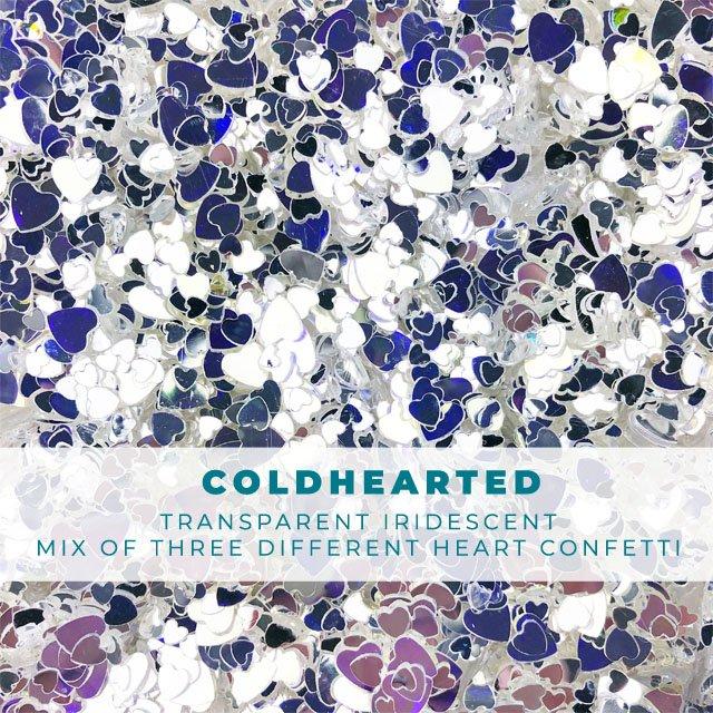 Coldhearted: Iridescent heart confetti mix