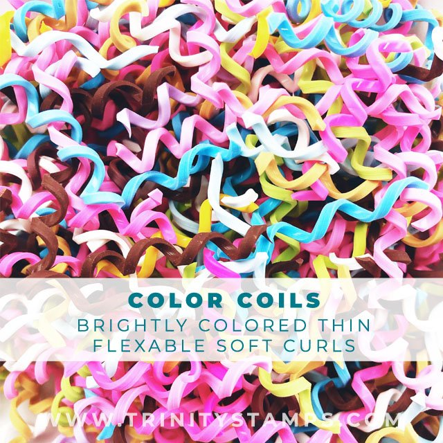 Color Coil's: flexible and soft narrow faux candy curls
