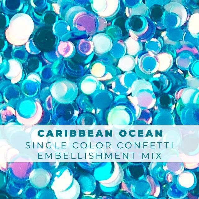 Caribbean Ocean Confetti Mix