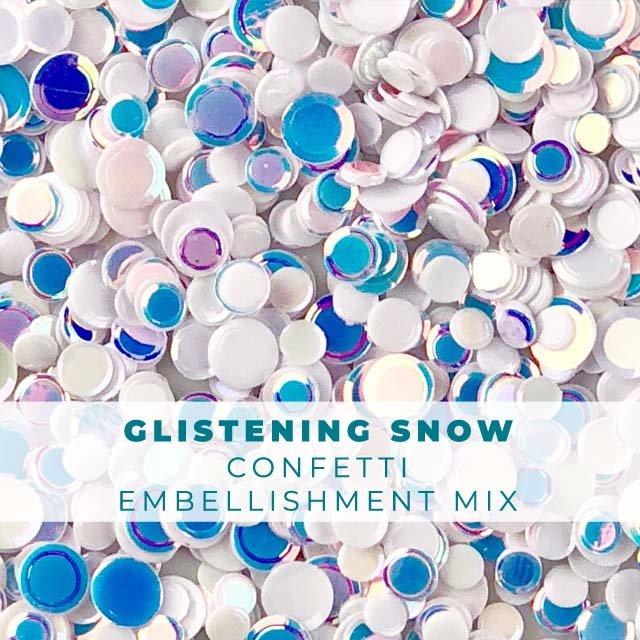 Glistening Snow Confetti Mix
