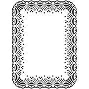 Doily Lace Frame Embossing Folder