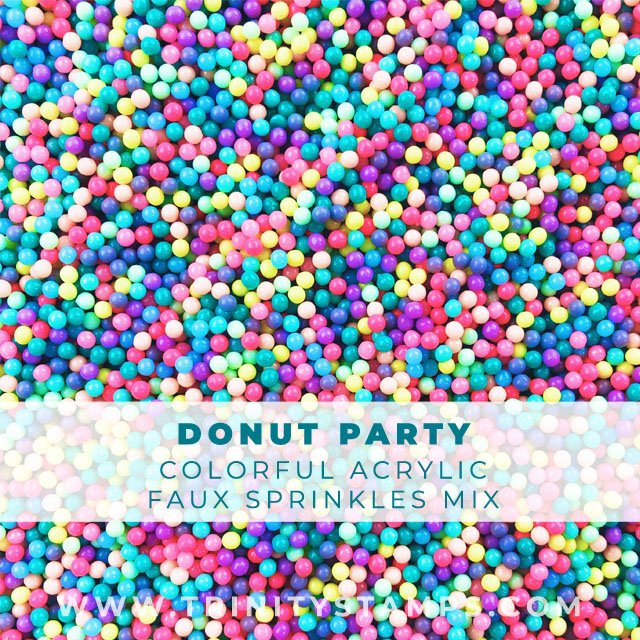 2mm bright and colorful Donut Party sprinkles Mix