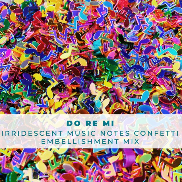Do Re Mi - Music Note Confetti Embellishment Mix