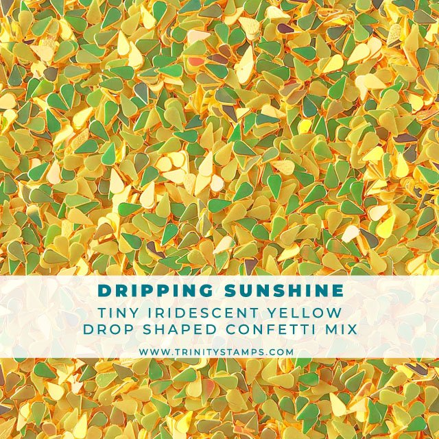 Dripping Sunshine: Iridescent Yellow Raindrop Confetti Mix