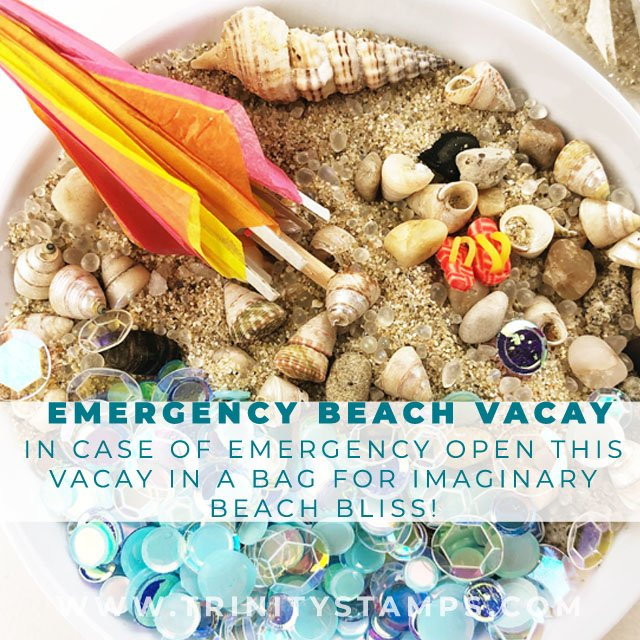 Emergency Beach Vacay: Beach in a bag Exclusive embellishment assortment