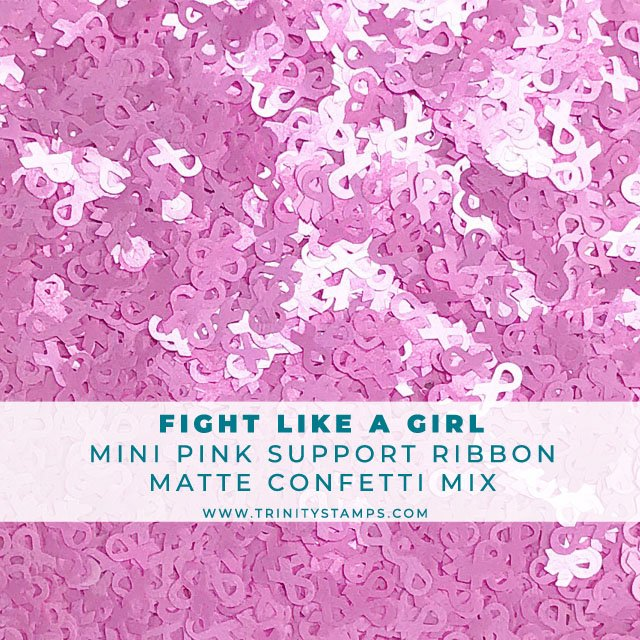 Fight Like A Girl: tiny pink ribbon confetti mix