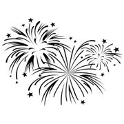 Fireworks Background Embossing Folder