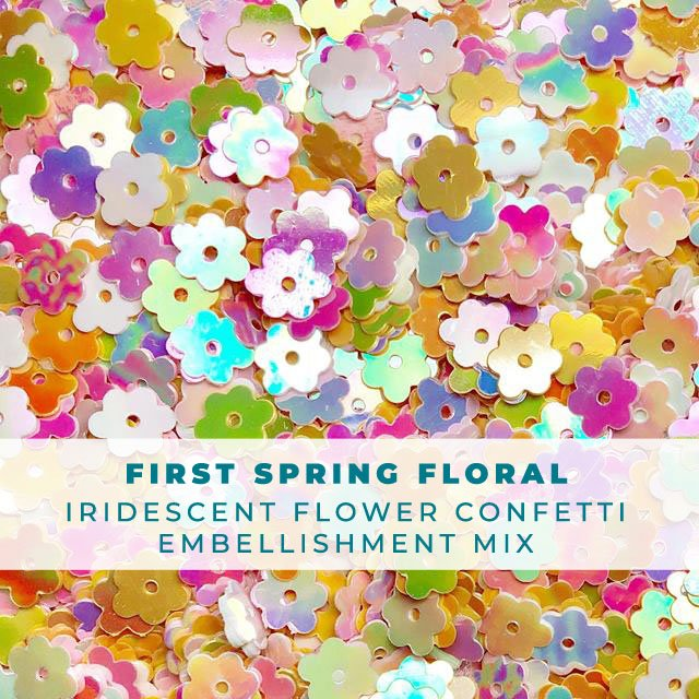 First Spring Florals - Flower Embellishment Mix